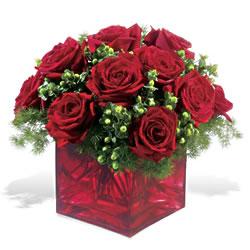 Burdur çiçek yolla  9 adet kirmizi gül cam yada mika vazoda