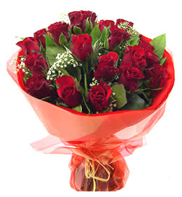 Burdur anneler günü çiçek yolla  11 adet kimizi gülün ihtisami buket modeli