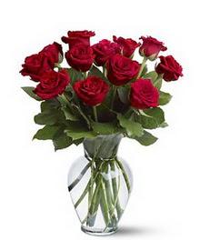 Burdur çiçek gönderme sitemiz güvenlidir  cam yada mika vazoda 10 kirmizi gül