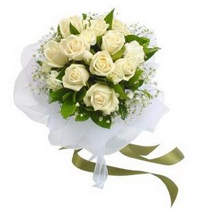 Burdur online çiçekçi , çiçek siparişi  11 adet benbeyaz güllerden buket