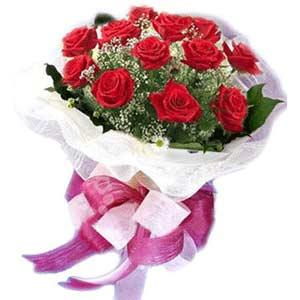 Burdur çiçek satışı  11 adet kırmızı güllerden buket modeli