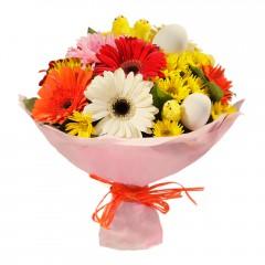 Karışık mevsim buketi Mevsimsel çiçek  Burdur internetten çiçek siparişi