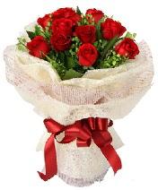 12 adet kırmızı gül buketi  Burdur anneler günü çiçek yolla