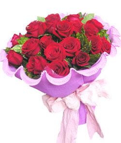 12 adet kırmızı gülden görsel buket  Burdur çiçekçi mağazası