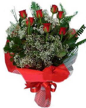 7 kırmızı gül buketi  Burdur çiçek servisi , çiçekçi adresleri