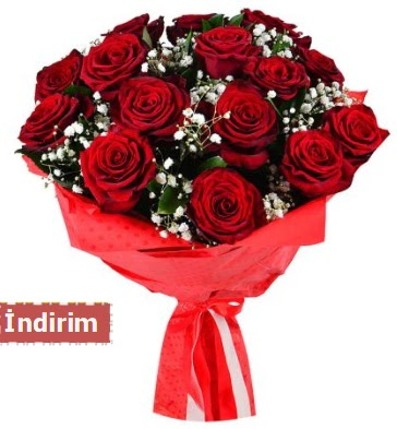 12 Adet kırmızı aşk gülleri  Burdur çiçek satışı