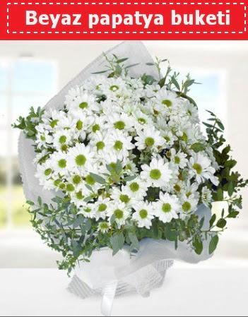 Beyaz Papatya Buketi  Burdur 14 şubat sevgililer günü çiçek