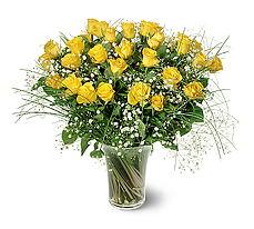 Burdur çiçek siparişi sitesi  15 adet sarigül mika yada cam vazoda
