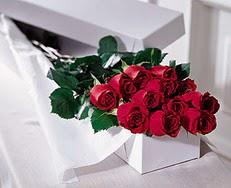 Burdur çiçek satışı  özel kutuda 12 adet gül