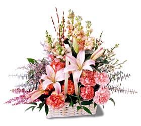Burdur çiçek siparişi sitesi  mevsim çiçekleri sepeti özel tanzim