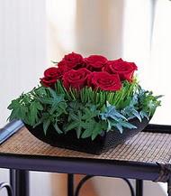 Burdur çiçek siparişi sitesi  10 adet kare mika yada cam vazoda gül tanzim