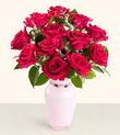 Burdur hediye çiçek yolla  10 kirmizi gül cam yada mika vazo tanzim