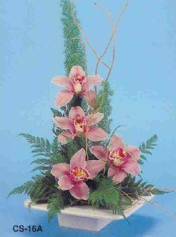 Burdur çiçekçi telefonları  vazoda 4 adet orkide