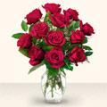 Burdur çiçek yolla  10 adet gül cam yada mika vazo da