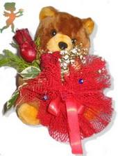 oyuncak ayi ve gül tanzim  Burdur çiçekçiler