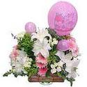 balon ve çiçeklerle tanzim  Burdur internetten çiçek satışı