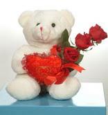 3 adetgül ve oyuncak   Burdur online çiçekçi , çiçek siparişi