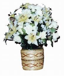 yapay karisik çiçek sepeti   Burdur çiçek mağazası , çiçekçi adresleri