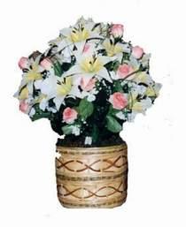 yapay karisik çiçek sepeti   Burdur çiçek servisi , çiçekçi adresleri