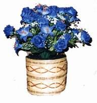 yapay mavi çiçek sepeti  Burdur cicekciler , cicek siparisi