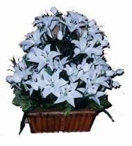 yapay karisik çiçek sepeti   Burdur online çiçek gönderme sipariş