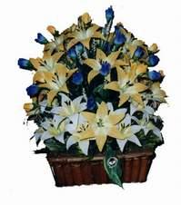 yapay karisik çiçek sepeti   Burdur çiçek gönderme
