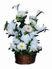 yapay karisik çiçek sepeti  Burdur çiçek siparişi vermek