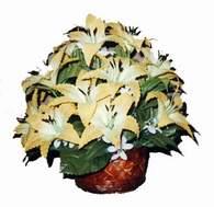 yapay karisik çiçek sepeti   Burdur çiçek siparişi sitesi