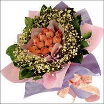 11  adet  gül ve   elyaflar   Burdur çiçekçi mağazası