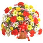 karisik renkli çiçek sepet   Burdur çiçek gönderme sitemiz güvenlidir