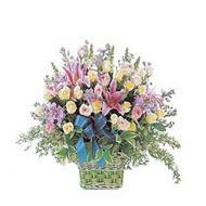 sepette kazablanka ve güller   Burdur çiçek gönderme