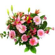 lilyum ve gerbera çiçekleri - çiçek seçimi -  Burdur çiçek gönderme