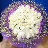 71 adet beyaz gül buketi   Burdur çiçek , çiçekçi , çiçekçilik