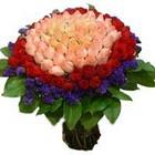 71 adet renkli gül buketi   Burdur ucuz çiçek gönder
