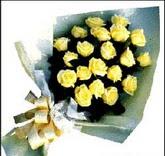 sari güllerden sade buket  Burdur çiçek , çiçekçi , çiçekçilik