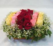 15 adet reprenkli gül sepeti   Burdur çiçek yolla