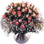 büyük cam fanusta güller   Burdur çiçek yolla