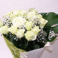 Burdur hediye çiçek yolla  11 adet sade beyaz gül buketi
