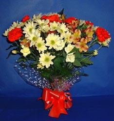 Burdur hediye çiçek yolla  kir çiçekleri buketi mevsim demeti halinde