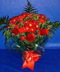 Burdur hediye çiçek yolla  3 adet kirmizi gül ve kir çiçekleri buketi