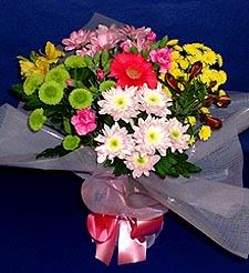 Burdur hediye çiçek yolla  küçük karisik mevsim demeti
