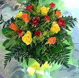 13 adet karisik gül buketi demeti   Burdur uluslararası çiçek gönderme