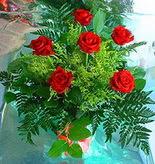 6 adet kirmizi gül buketi   Burdur online çiçek gönderme sipariş