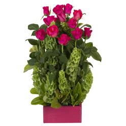 12 adet kirmizi gül aranjmani  Burdur çiçek mağazası , çiçekçi adresleri