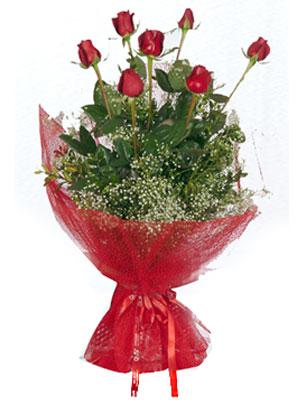 Burdur çiçek servisi , çiçekçi adresleri  7 adet gülden buket görsel sik sadelik