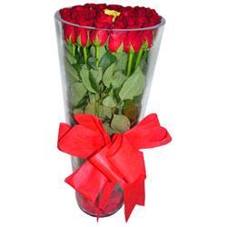 Burdur çiçek online çiçek siparişi  12 adet kirmizi gül cam yada mika vazo tanzim