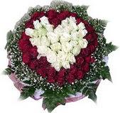 Burdur çiçek mağazası , çiçekçi adresleri  27 adet kirmizi ve beyaz gül sepet içinde
