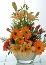 Burdur çiçek servisi , çiçekçi adresleri  cam yada mika vazo içinde karisik mevsim çiçekleri