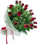 Burdur internetten çiçek satışı  11 adet kirmizi gül buketi sade ve hos sevenler
