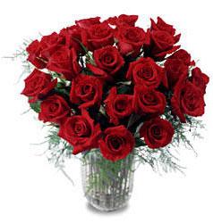 Burdur çiçek gönderme sitemiz güvenlidir  11 adet kirmizi gül cam yada mika vazo içerisinde